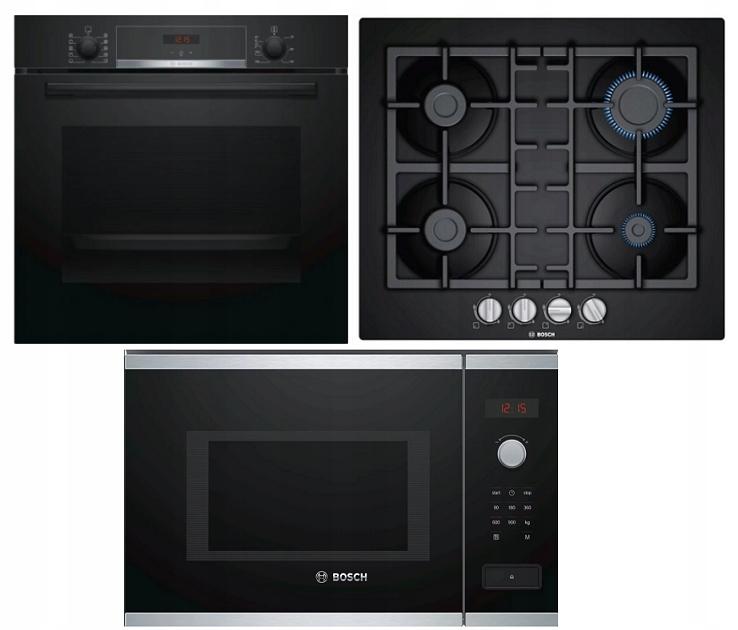 Духовой гарнитур Bosch и газовая плита микроволновая печь