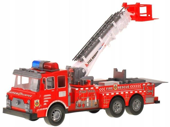 Duża Straż Pożarna Auto Kask quad strażacy ZA1158 Materiał Plastik