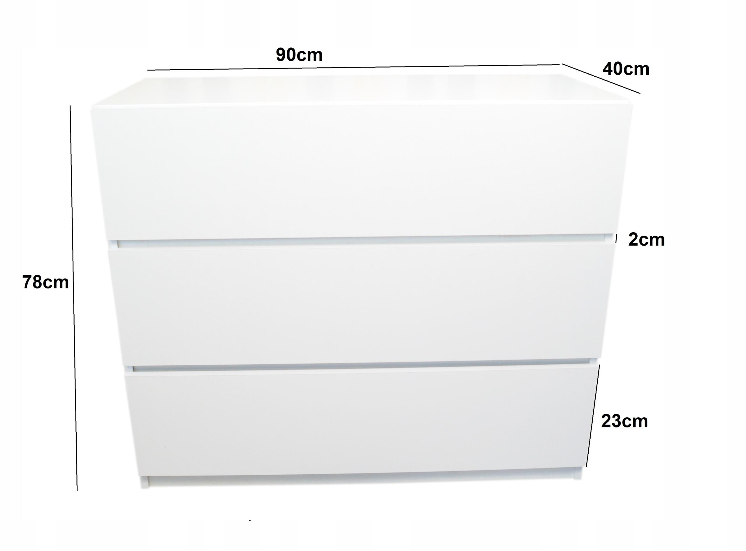 Komoda biała z szufladami NEO 90cm New Line Komody Kod producenta 10
