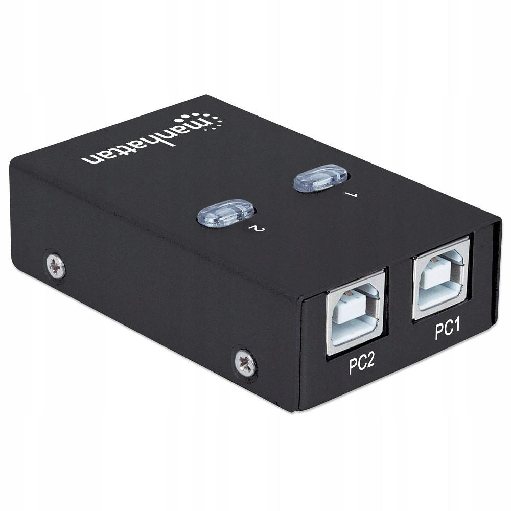 Automatický spínač USB 2.0 s 2 ks na 1 USB