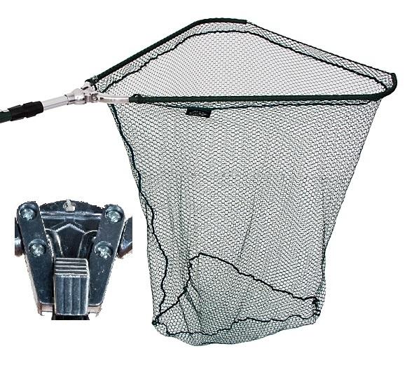 Podbierak Wędkarski na ryby 2,7 m metal 80x80 cm
