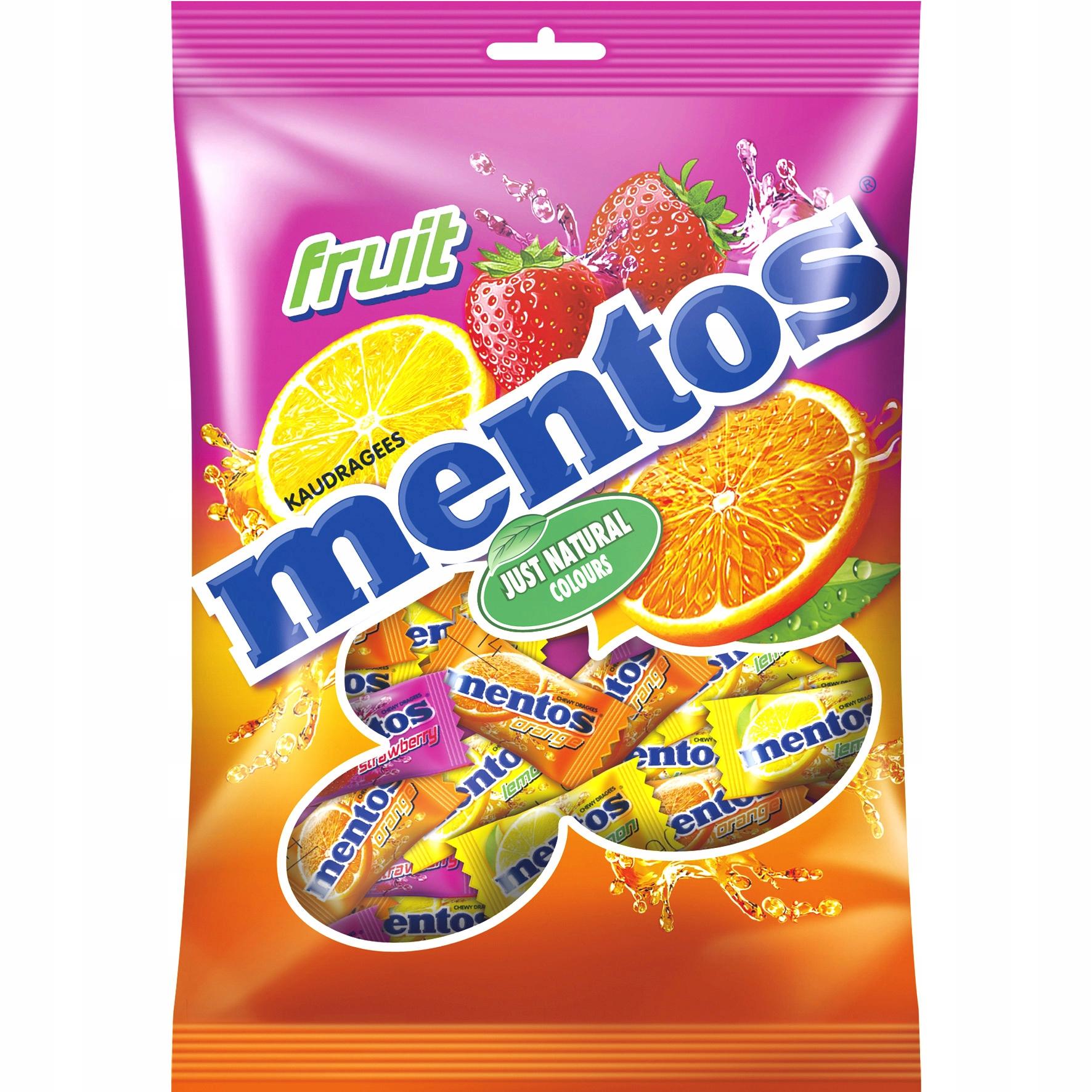 Mentos Fruit Single 500 г Фруктовые пастилки