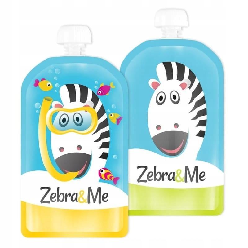 Saszetki tubki wielorazowe na pokarm Zebra&Me