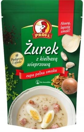 Суп ржаной кислый со свиной колбасой 450г PROFI x 6 шт.