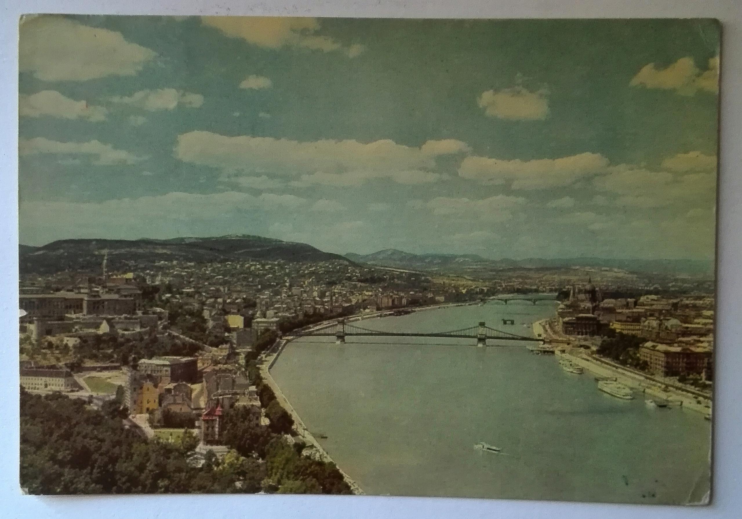 Pohľadnice pohľad na Budapešť leto 60 XXW SPK