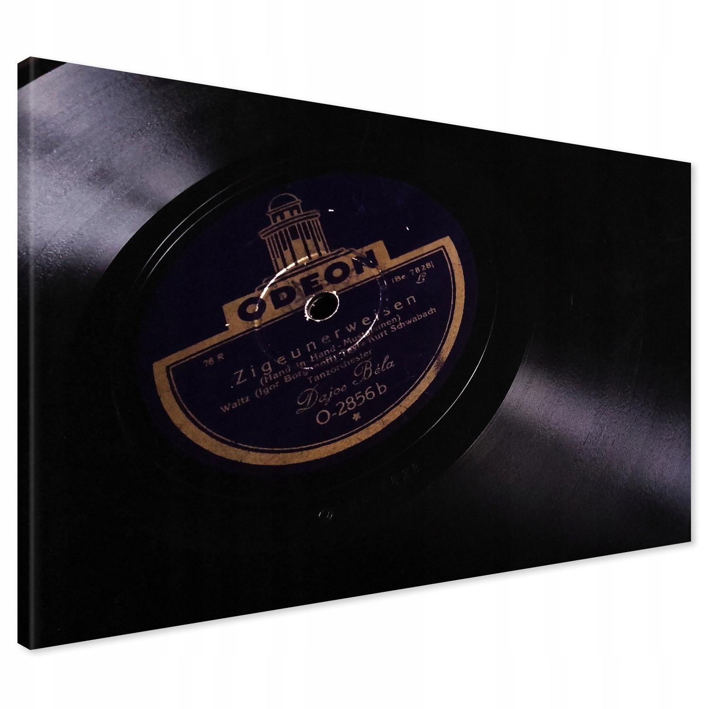 Retro vinylová platňa 70 x 50 na plátne