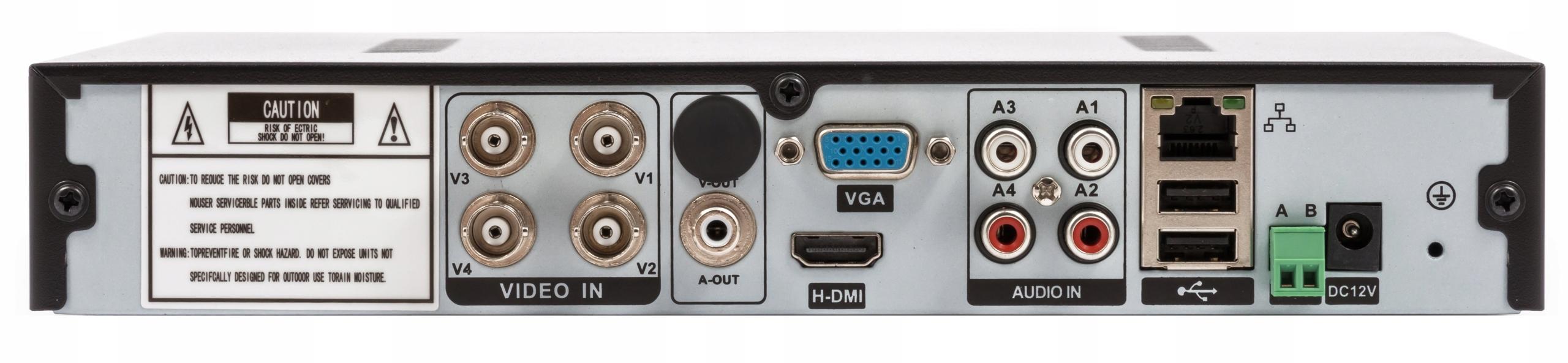 ZESTAW MONITORING REJESTRATOR 4 KAMERY HD Model HWD-6108MH-G2