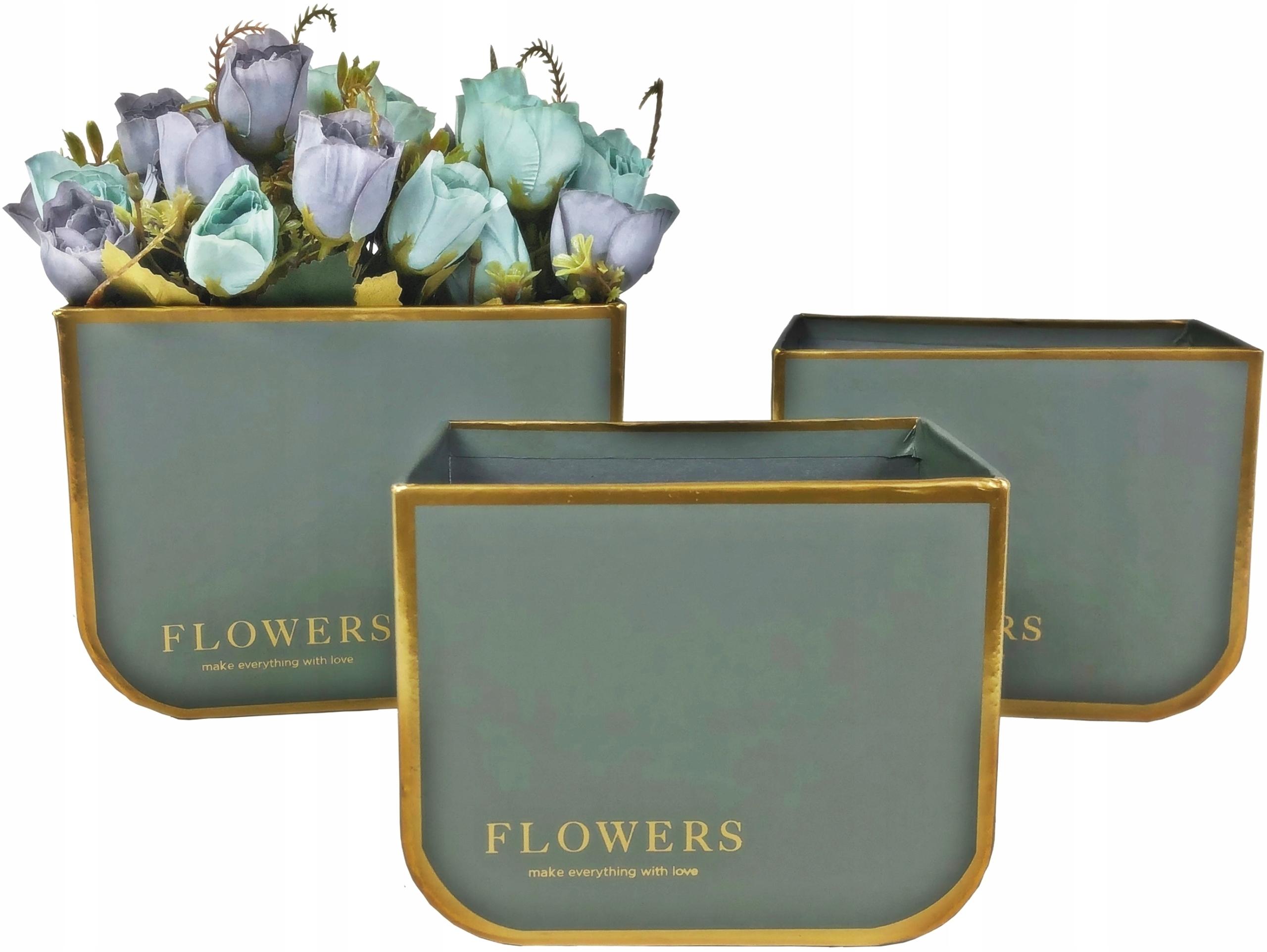 Flower box na kwiaty PUDEŁKO FLOWERBOX 3 szt.