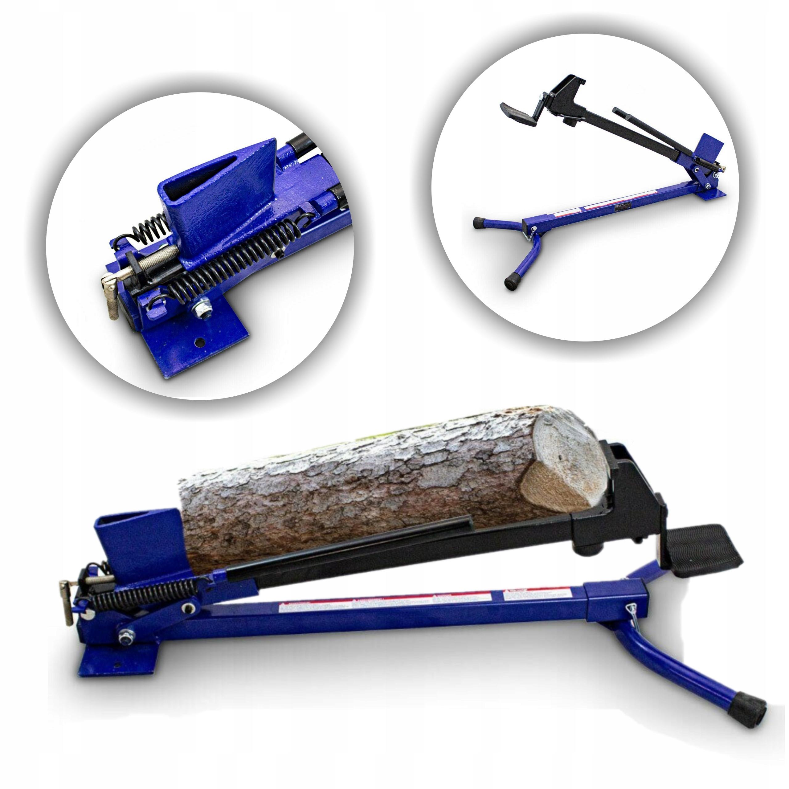 Łuparka Rębak do Drewna Ręczna Mechaniczna Nożna