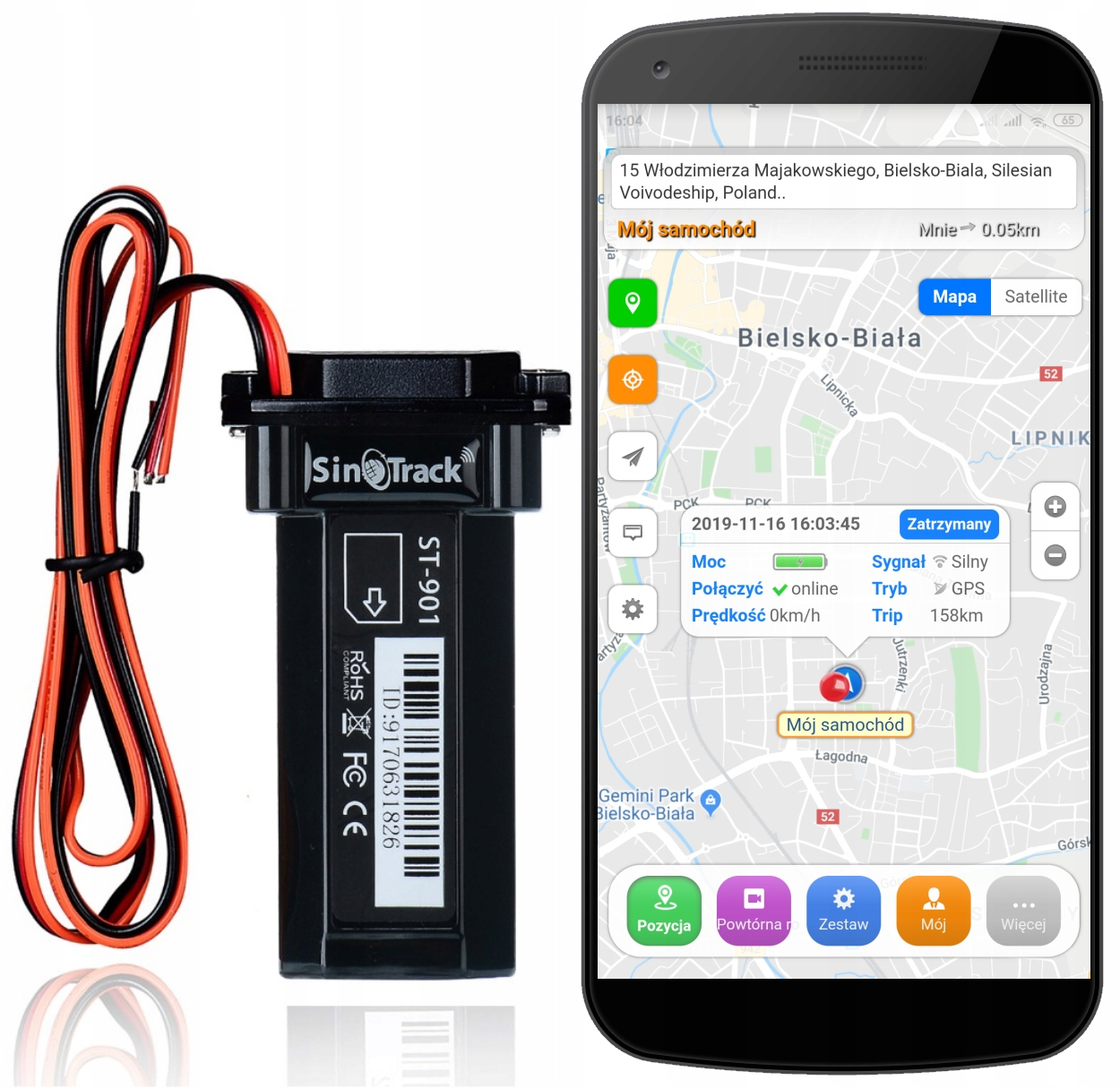 GPS-локатор для мониторинга автомобилей, мотоциклов