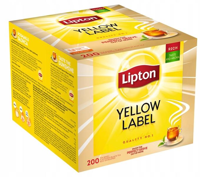 Lipton Yellow Label čierny čaj tašky 800