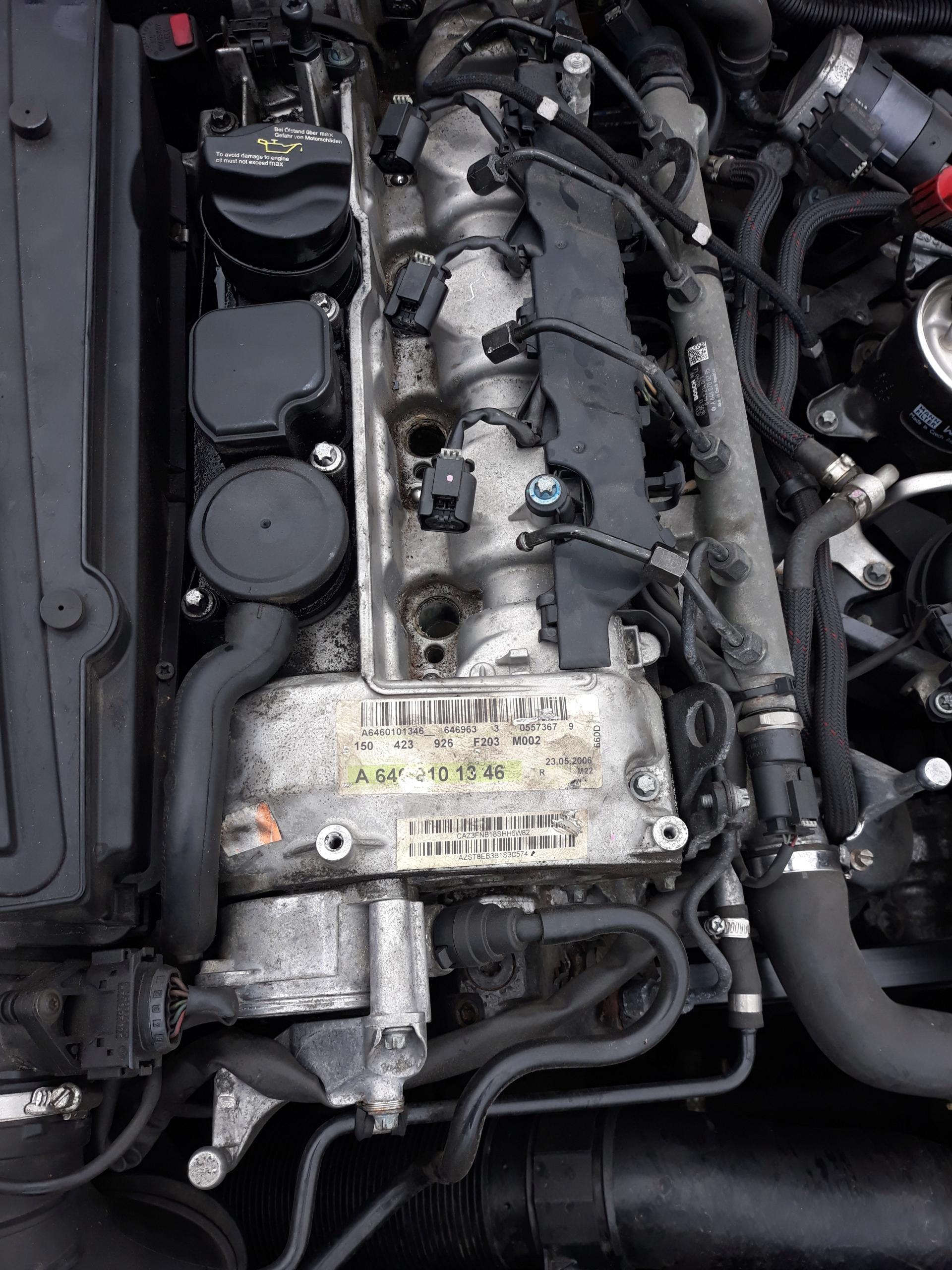 двигатель 22 cdi mercedes w209 c w203 a6110105020
