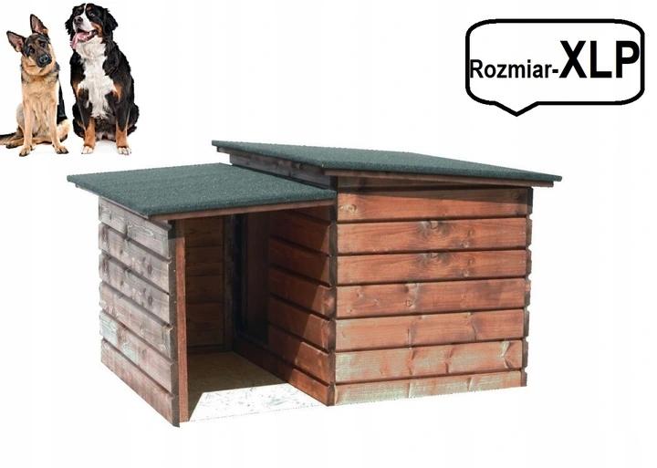 Buda dla psa+przedsionek,ocieplana-rozm XLP brąz