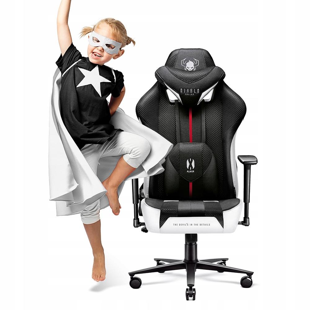 Krzesło DIABLO X-PLAYER KIDS do BIURKA dziecięce