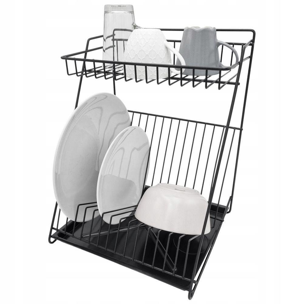 ЧЕРНАЯ посудомоечная машина, двухуровневая сушилка