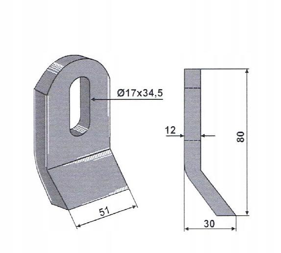 Купить Нож с цепом MUE-06 Ножи для косилки на Otpravka - цены и фото - доставка из Польши и стран Европы в Украину.