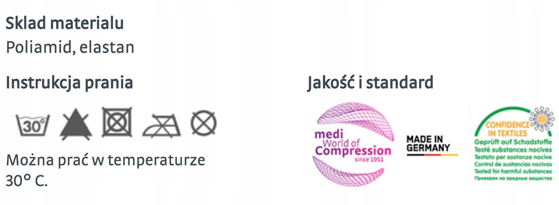 Opaska elastyczna na kolano kompresja medyczna 2st Rozmiar XXS