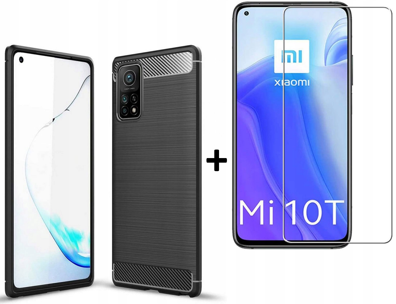 Etui Tpucarbon + szkło do Xiaomi Mi 10T / 10T Pro