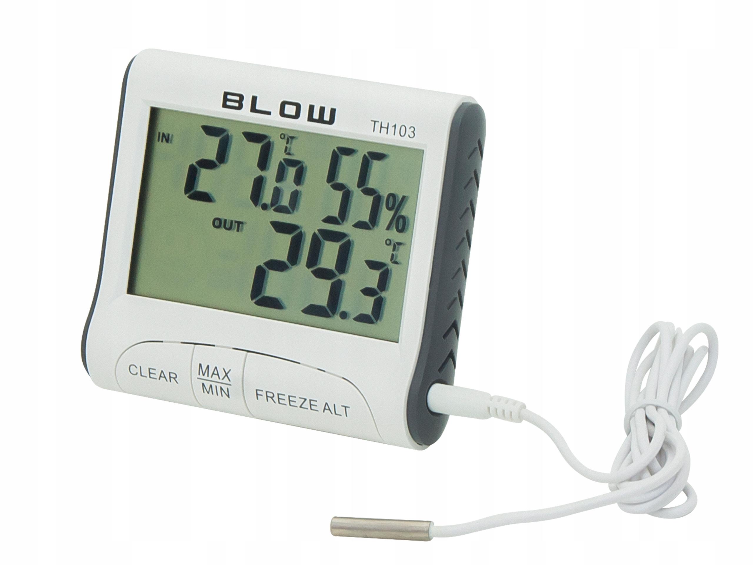 Termometr z higrometrem BLOW wewnętrzny zewnętrzny
