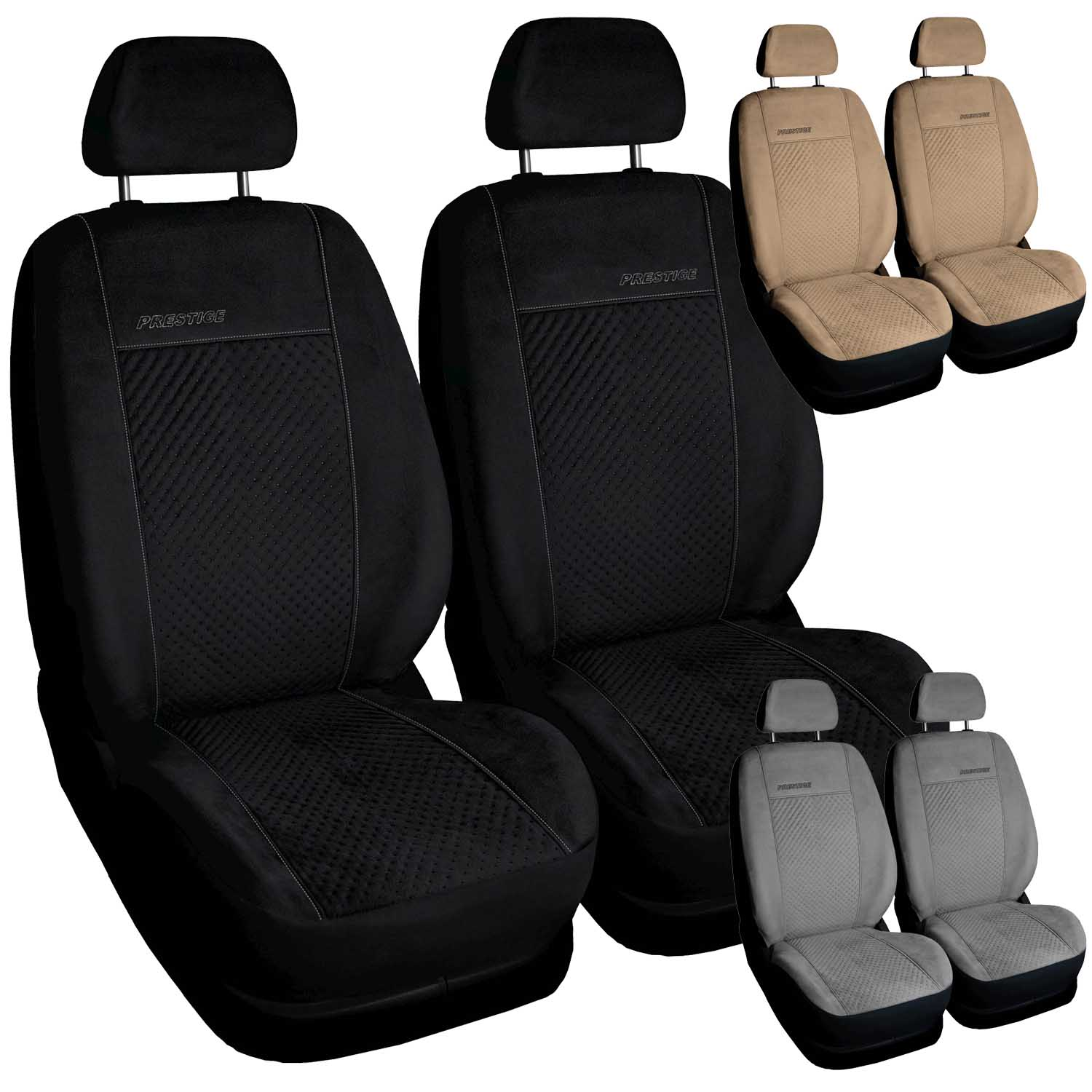 Picture of COVERS UNI SUEDE LEATHER FRONT 1+1  FIAT CINQUECENTO