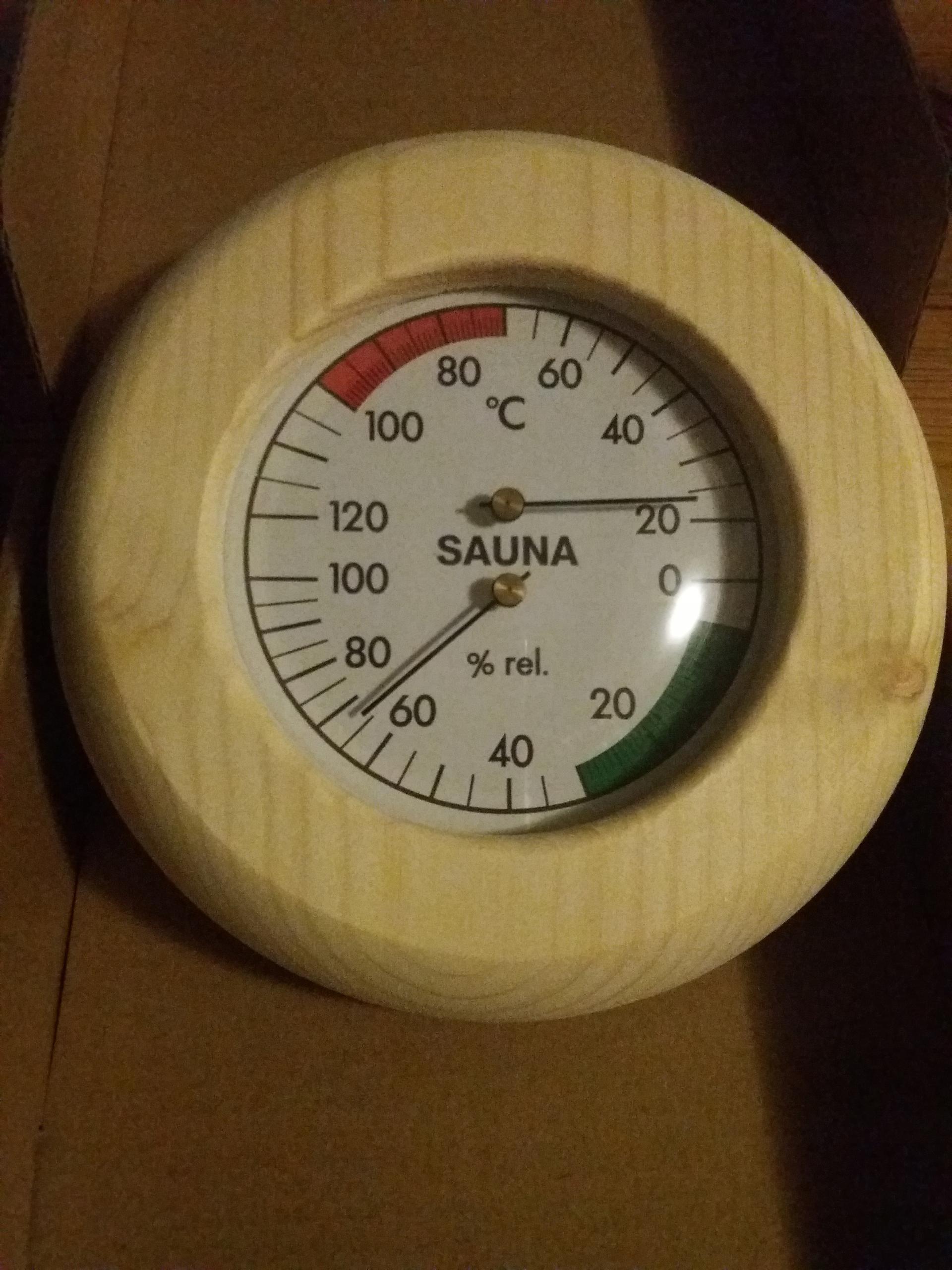 Термометр и гигрометр для сауны на дровах