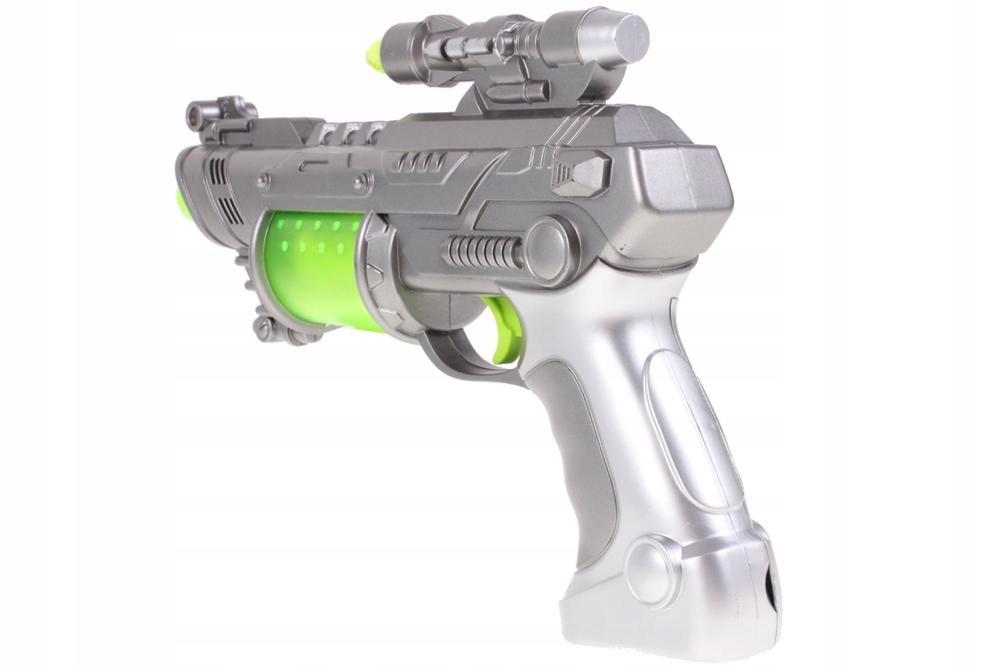 PISTOLET Świetlny Millenium Falcon WIBRACJE Broń Materiał Metal