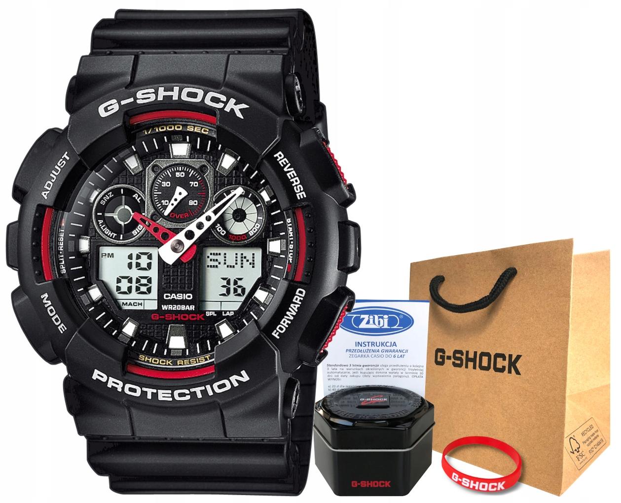 Zegarek Casio G-SHOCK GA-100-1A4ER 20BAR hologram