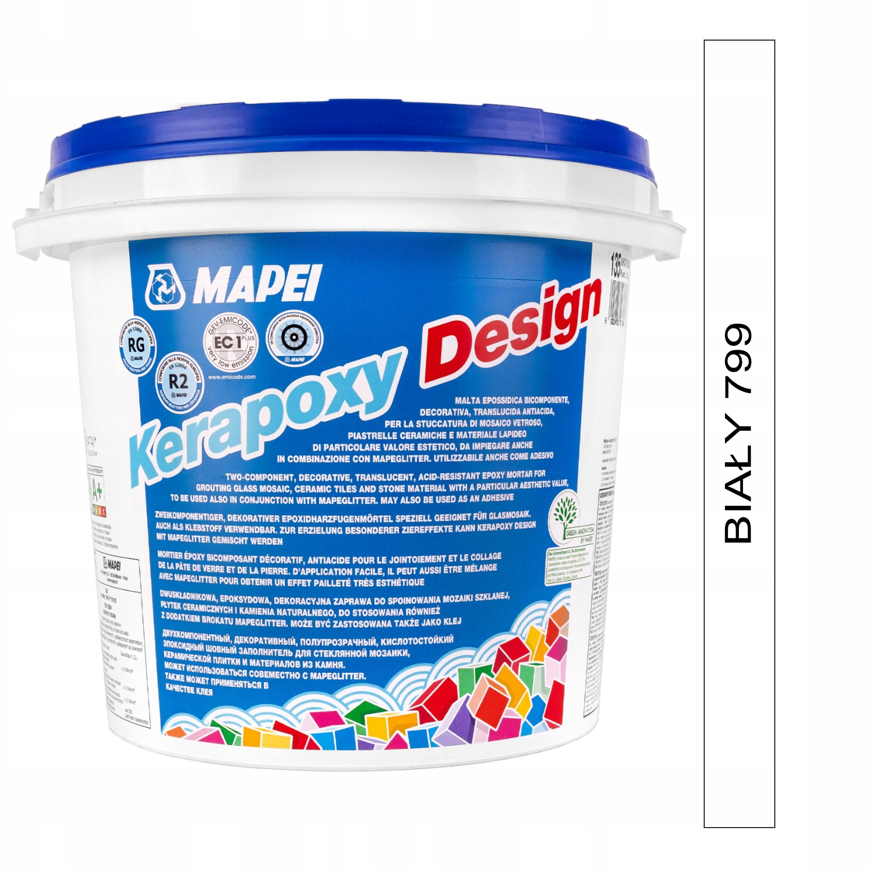 Fuga MAPEI Kerapoxy Design 3 kg - biały (799)