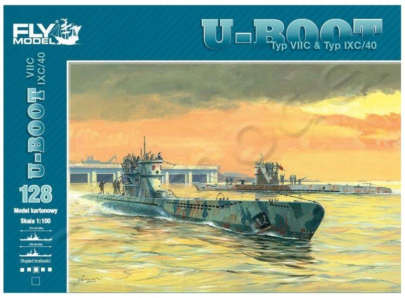 U-boot typ VIIC & IXC 1/100 Fly Model 128
