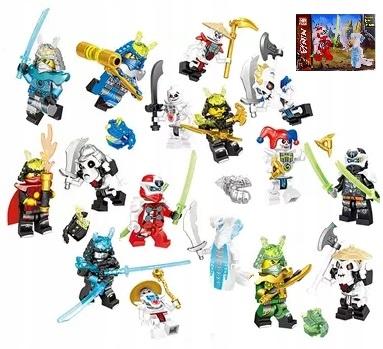 16 x Figurki Zestaw Lloyd WU Zane Ninja Kartoniki