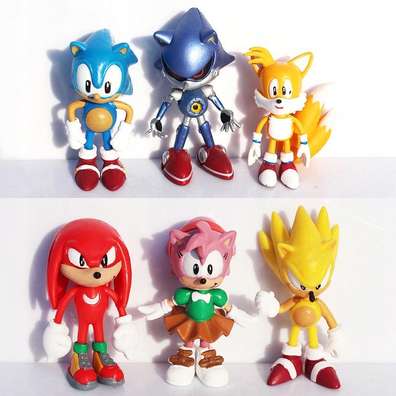 Sonic the ježka figúrky 6 ks