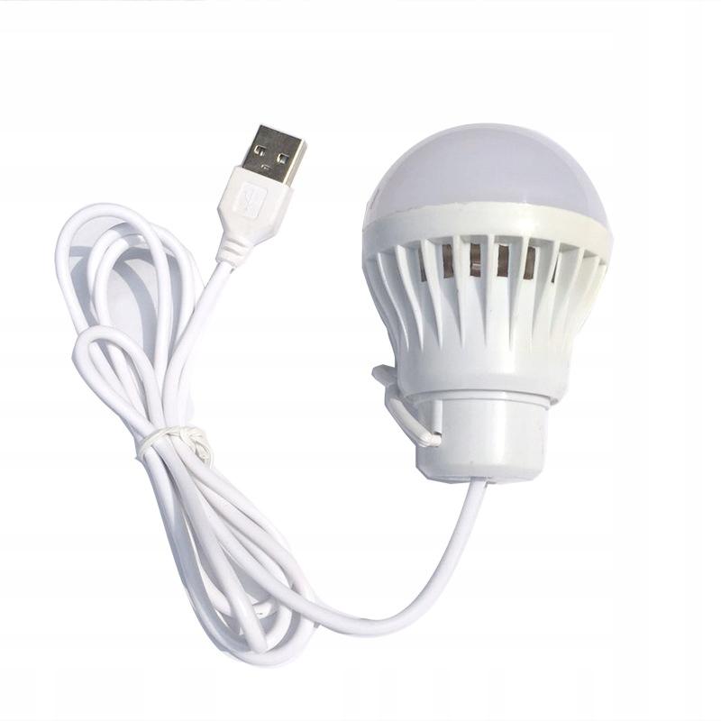 LAMPKA ŻARÓWKA LED NOCNA na kablu USB CAMPING