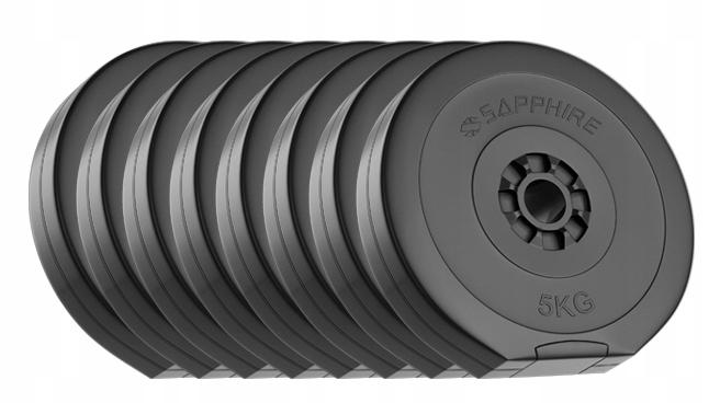 OBCIĄŻENIE 90KG zestaw (4x2,5+8x5+4x10kg) talerze Marka Sapphire
