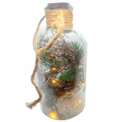Фонарь украшение бутылки ручной работы Белый LED 10