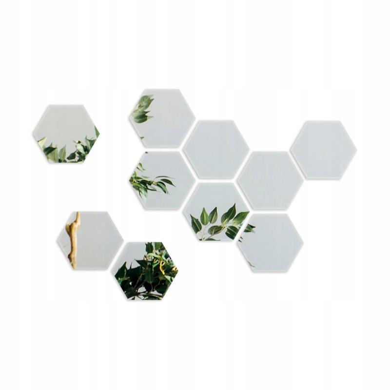 HEXAGONS Зеркало декоративное, 10 см, самоклеющееся