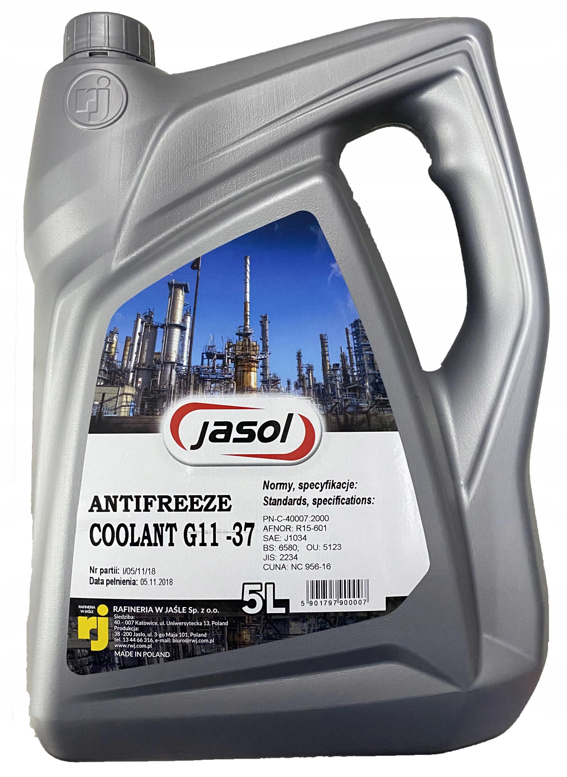 Жидкость радиатора G11 5L 37C Jasol