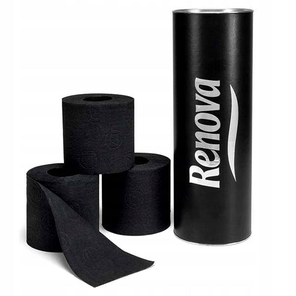 Туалетная бумага Renova PREMIUM Труба Черный 3pcs