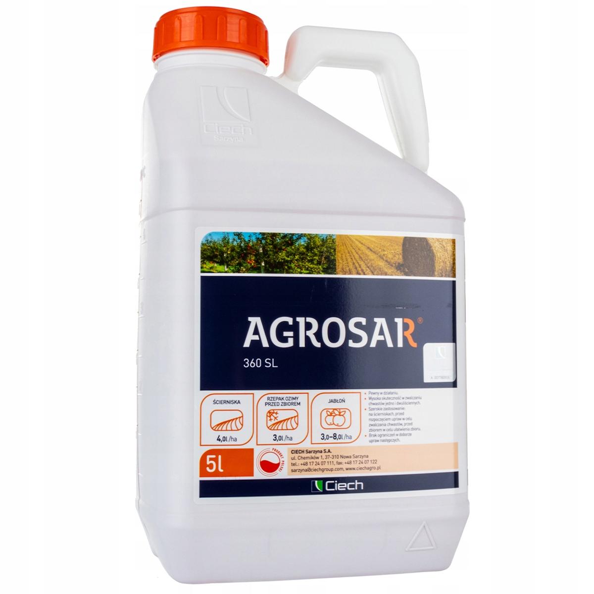 AGROSAR 360SL 5l zwalcza wszystkie chwasty zielone