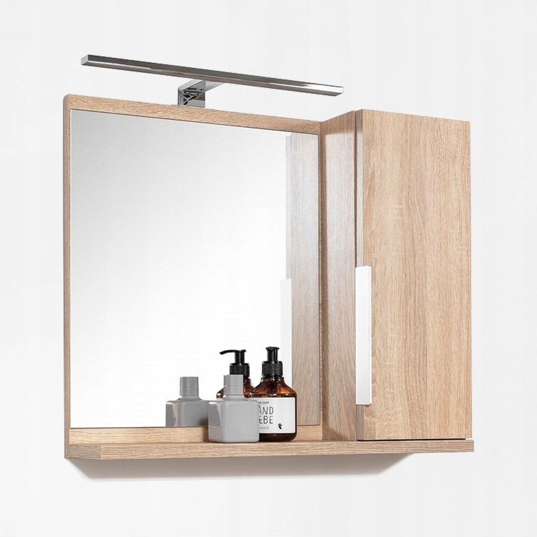 Szafka łazienkowa SIDE z lustrem oświetleniem LED