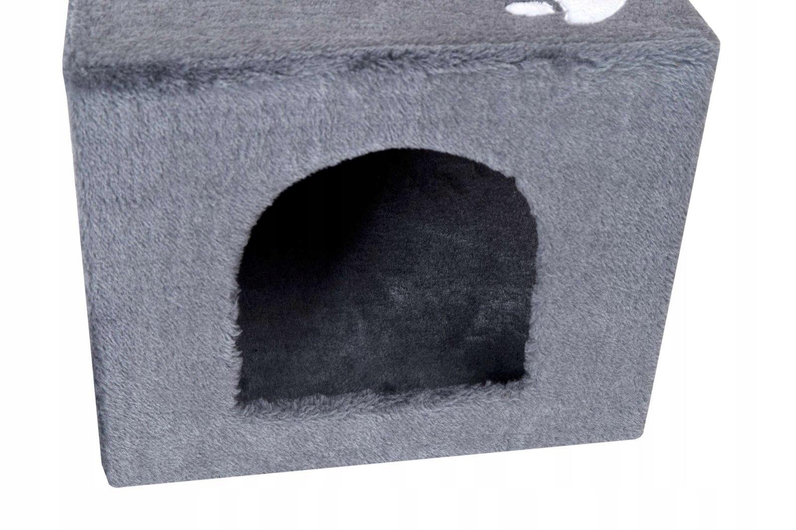 Stánok na mačacie domčeky pre stromčeky, 3 úrovne, 56 cm, sivá farba