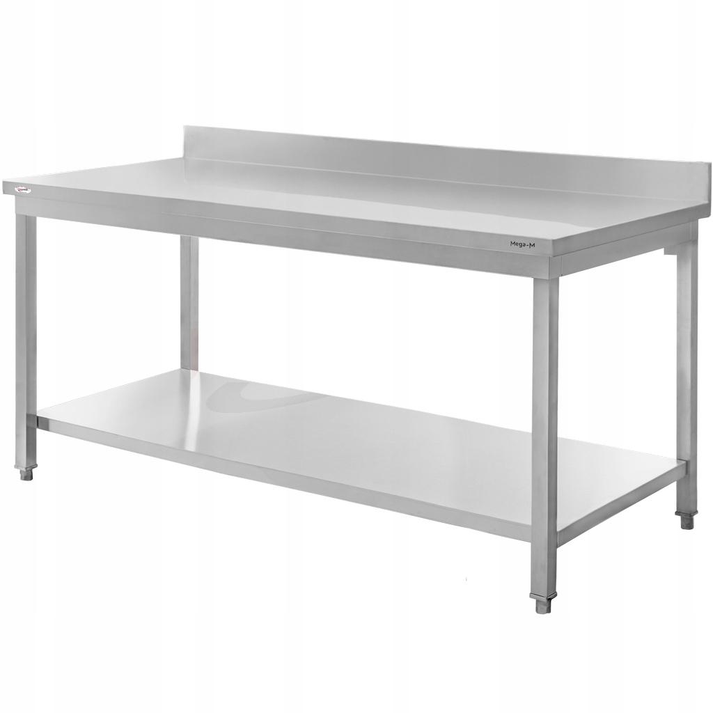 Рабочий стол из нержавеющей стали, 200x60