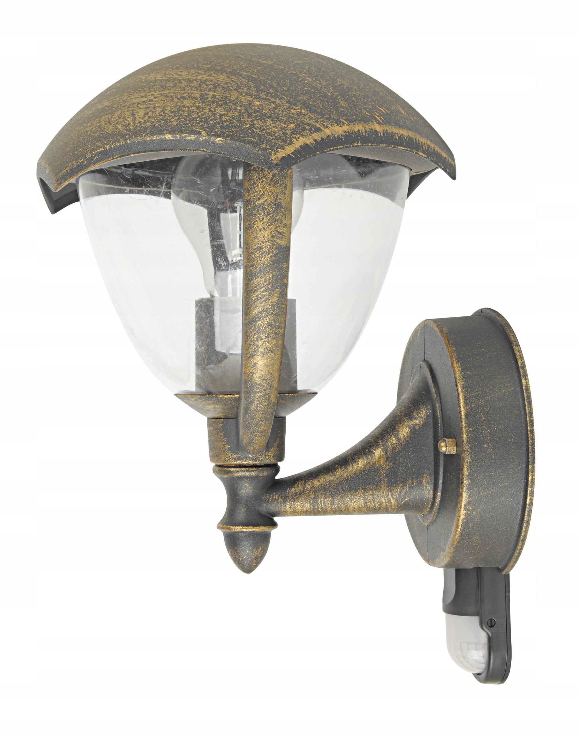 Vonkajšie nástenné svietidlo Rabalux Miami 8676 Retro Gold