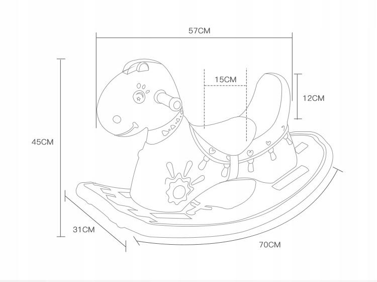Konik KOŃ na biegunach dla dzieci,maluchów Clamaro Kod producenta Różowy