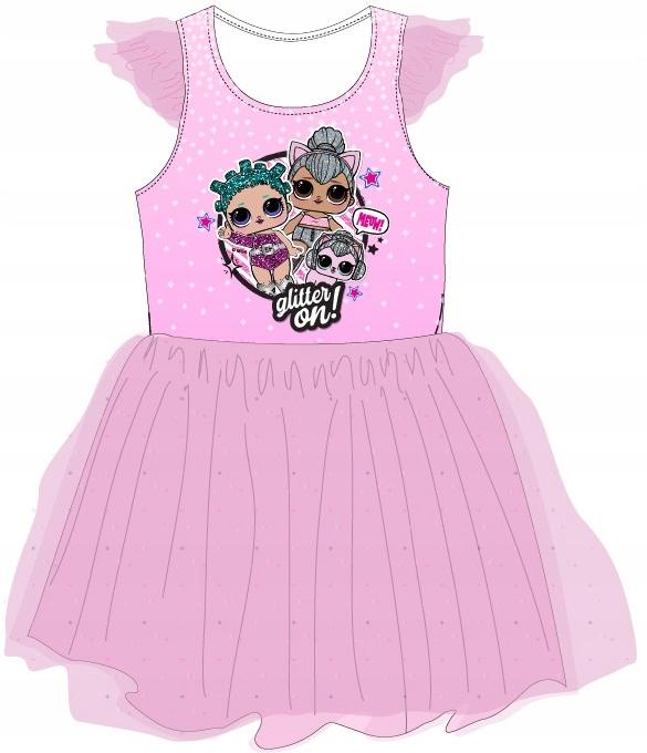 šaty DRESS bábika LOL prekvapenie L.O.L 128