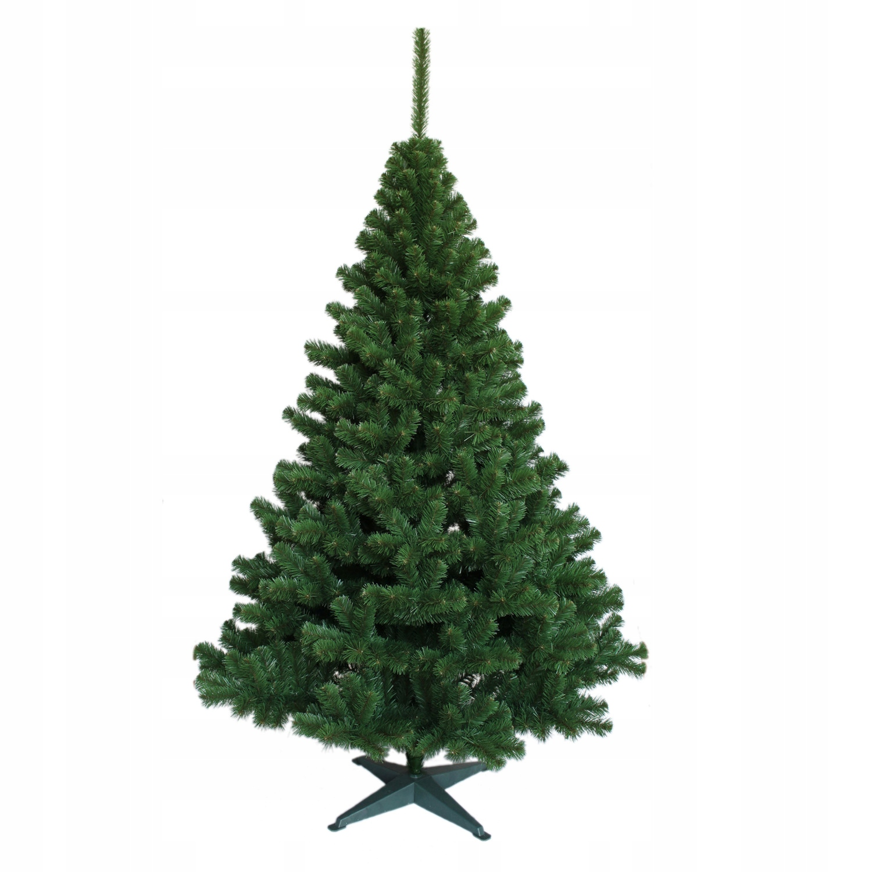 Krásny umelý vianočný stromček Jedle zelená zelená 200
