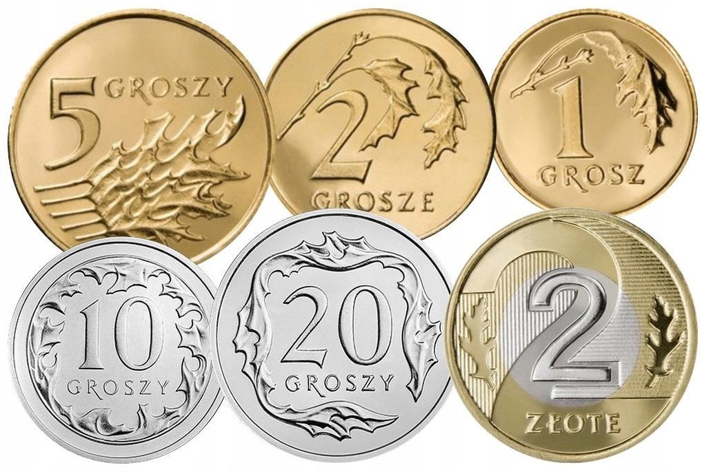 Komplet monet obiegowych 2007 r. UNC 6 sztuk