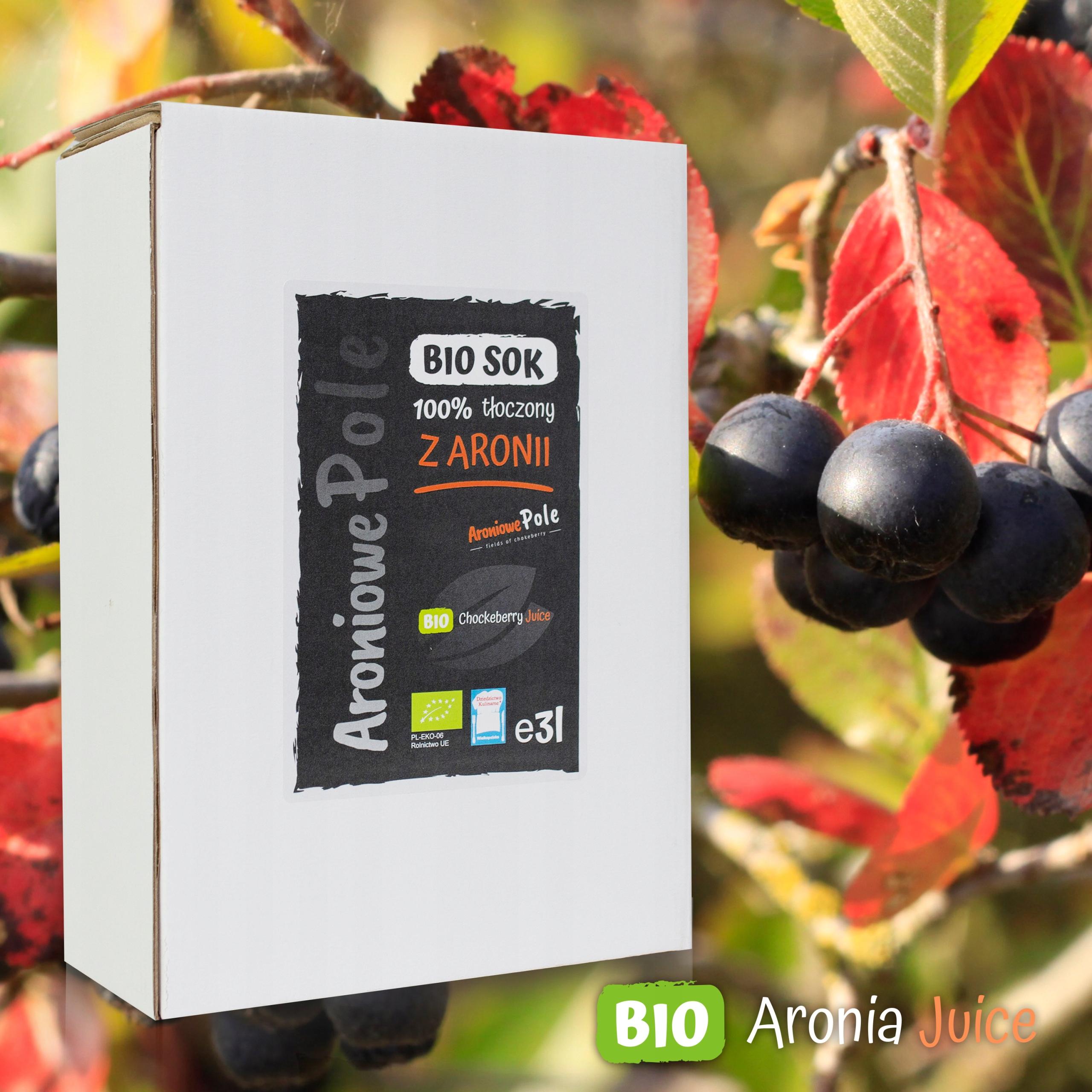 BIO Aronia Juice 3L прессованный 100% -ный завод