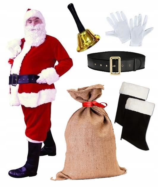Комплект одежды Санта-Клауса XXL