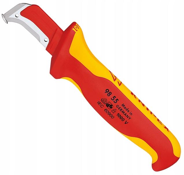 KNIPEX Nóż do ściągania izolacji ściągacz 1kV VDE