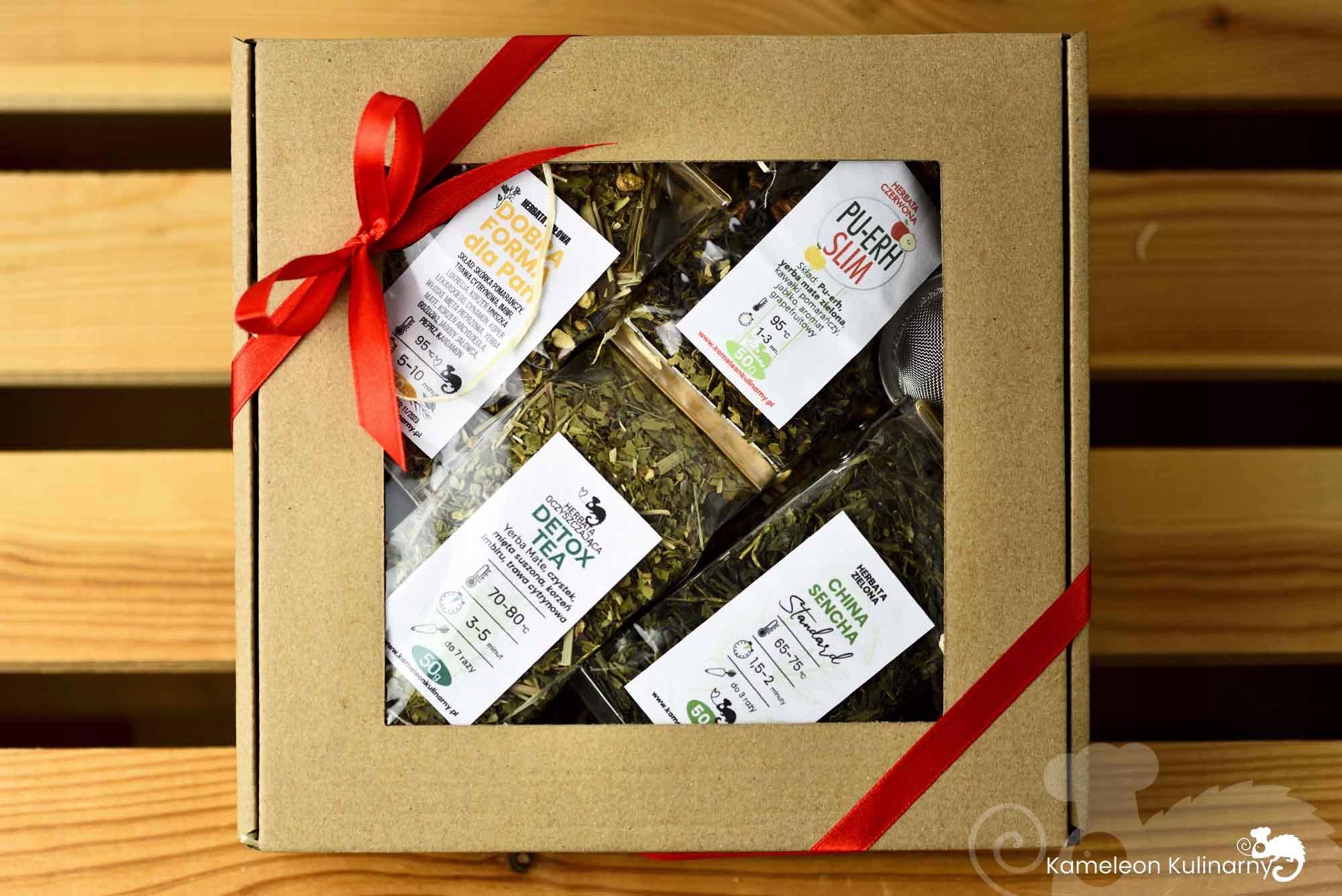 ZESTAW PREZENTOWY na prezent 4 herbaty i zaparzacz Kod producenta ZESTAW PREZENTOWY